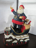 "Boston RED SOX ROOFTOP SANTA Figure NEW 7"" Christmas Memory Company"