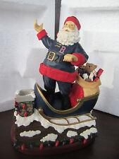 "Boston RED SOX ROOFTOP SANTA Figure NEW 7"" Christmas Memory Company"