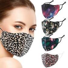 Reusable Face Mask Washable Adjustable Adult Mouth Covering Printed Design UK