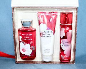 New BATH & BODY WORKS Japanese Cherry Blossom Set Mother's Day Gel Cream Mist