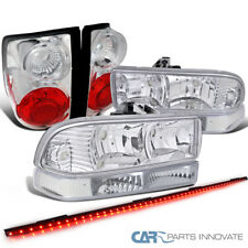 "Chevy 98-04 S10 Clear Headlights+Bumper Lamps+Tail Lights+49"" LED Tailgate Bar"