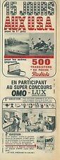 Publicité 1965 OMO LUX JEU USA PAQUEBOT FRANCE advertising