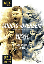 UFC 203 Official Full-Sized Event Poster MIOCIC vs OVEREEM, CM Punk, 9/10/2016