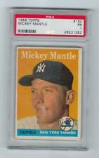1958 Topps #150 Mickey Mantle HOF Yankees PSA 1 Poor