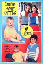 ~ Vintage 1970's Knitting Pattern Booklet ~ 18 Lovely Family Designs ~