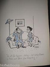 """Clifford C Lewis """"Clew"""" Original Pluma Y Tinta De Dibujos Animados-hygeinic amantes #259"""