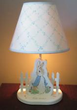 Eden Beatrix Potter Peter Rabbit Baby Nursery Lamp/Shade & Night Light 1994 vtg