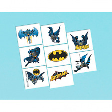 Batman Temporary Tattoo - 1 sheet, 8 tattoos