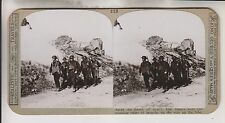 WWI STEREOVIEW - TROOPS PASS THE SMOKING RUINS OF MONCHY - REALISTIC TRAVELS