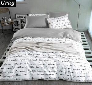 Letter Printing Duvet Cover Sets Activity Bedding Sets Quilt Cover Sheet Set
