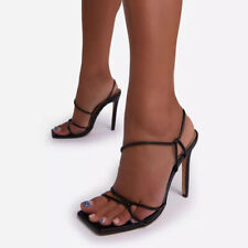 Women Sexy Slingback Cross Strappy High Heels Open Toe Sandals Party Shoes Pump