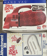 Royal Dirt Devil Hand Vac Vacuum Model 103 Made in USA Working Bags Attachments