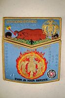 OA OCCONEECHEE 104 2-PATCH FOUNDERS DAY HUNGER GAMES 100TH ANN 2015 NOAC FLAP