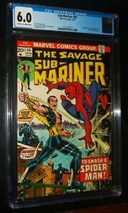 SAVAGE SUB-MARINER #69 1974 Marvel Comics CGC 6.0 FN Spider-Man