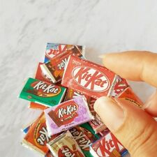 4x Random Chocolate Bar Packet Dollhouse Miniature Candy Sweet Loose Assortment