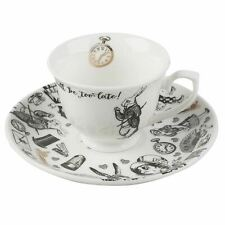 Reduced Victoria And Albert Alice In Wonderland Espresso Cup Saucer Fine China