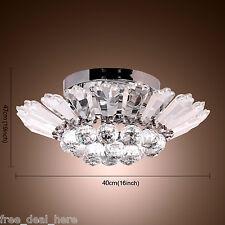 Crystal Ceiling Lighting Chandelier Light Lamp Pendant Fixture Living/Bedroom UK