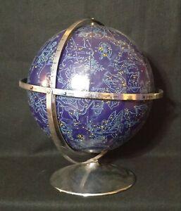 """Vintage 12"""" Rand McNally Zodiac Stars Celestial Globe 1960s Constellations MCM"""