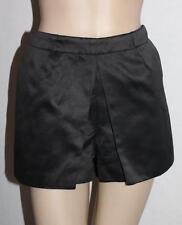 T by BETTINA LIANO Designer Black Silky Front Pockets Shorts Size S BNWT #sZ120