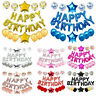 "16"" Happy Birthday Foil Helium Letters Balloons Set Latex Balloon Party Decor"