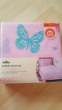 WILKO butterfly  duvet set single quilt cover