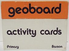 Geoboard Vintage Activity Card Set In Box By Scott Resources