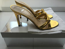 Gina gold knot mules Size 5 (small fitting)