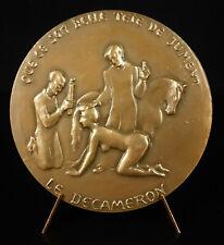 """Medaille Boccaccio Décaméron Dap die Zwei Einfaltspinsel """" Damen Unbedeckt"""