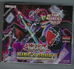 Yugioh King's Court 1st Edition Booster Box Factory Sealed