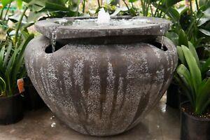 GRC Outdoor Garden Patio Water Feature Escher Jar Urn Fountain Atlantis