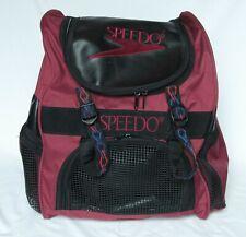 Speedo Swim Backpack Maroon and Black 17� H Swimming Gear Bag