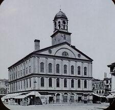 Faneuil Hall, Boston, Massachusetts, Magic Lantern Glass Slide, British Sized