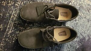 Black size UK 7 Clarks Originals Mens Boots Wallabee Ankle boots Lace-up Suede