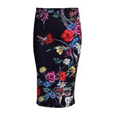 Women Floral Fashion Print Stretchy Business OL Elegant Skinny Pencil Skirt