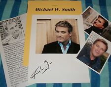 MICHAEL W. SMITH Autographed Photo & Photos- REAL UNIQUE