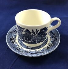 CHURCHILL BLUE WILLOW CUP AND SAUCER ENGLAND EXCELLENT CONDITION