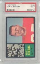 1962 Topps Football Monty Stickles (#155) PSA7 PSA