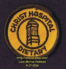 """LMH PATCH Badge CHRIST HOSPITAL Medical Center DIETARY Food Servic Old Logo 2.3"""""""