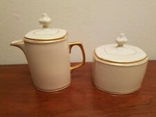 2pc Franciscan MOON GLOW Creamer Sugar Bowl Excellent Minty Condition