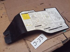 1993 94 95 CAMARO TRANS AM FIREBIRD SPARE TIRE JACK COVER LID PANEL INSTRUCTIONS