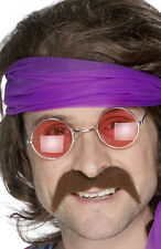 70er Jahre Schnurrbart braun NEU - Karneval Fasching Bart Verkleidung