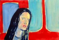 HINKLE girl portrait oil painting expressionism modern art original fauvism