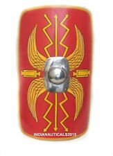 """Halloween Armour Shield Fully Functional 36"""" Medieval Roman Scutum Red & YELLOW"""