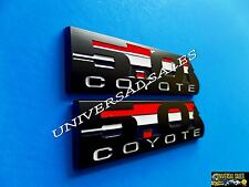 PAIR BLACK 5.0 COYOTE MUSTANG F150 BOSS 302 EMBLEM BADGES FENDER TAILGATE NEW