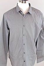 NEW CALVIN KLEIN Slim Fit Long Sleeve Grey Cotton Casual Shirt Mens XL Reg $79