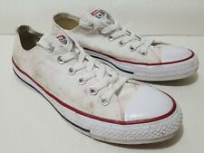 Converse All Star Low Top Canvas Fashion Sneaker White Mens Size 7