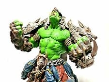 "Blizzard World Warcraft WoW Series 1 Earth Fury Orc Wolf Shaman 7.5"" Figure EUC"