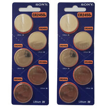 SONY CR2450 BATTERIES 2450 DL2450 KRC2450 COIN CELL BUTTON 3V expire 2027 X 10