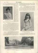 1902 Duchessa di Marlborough come un bambino Molly Darrell Violet monckton