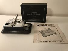 Vintage KEYSTONE Model 837 8mm Security Film Splicer With Box And Instructions